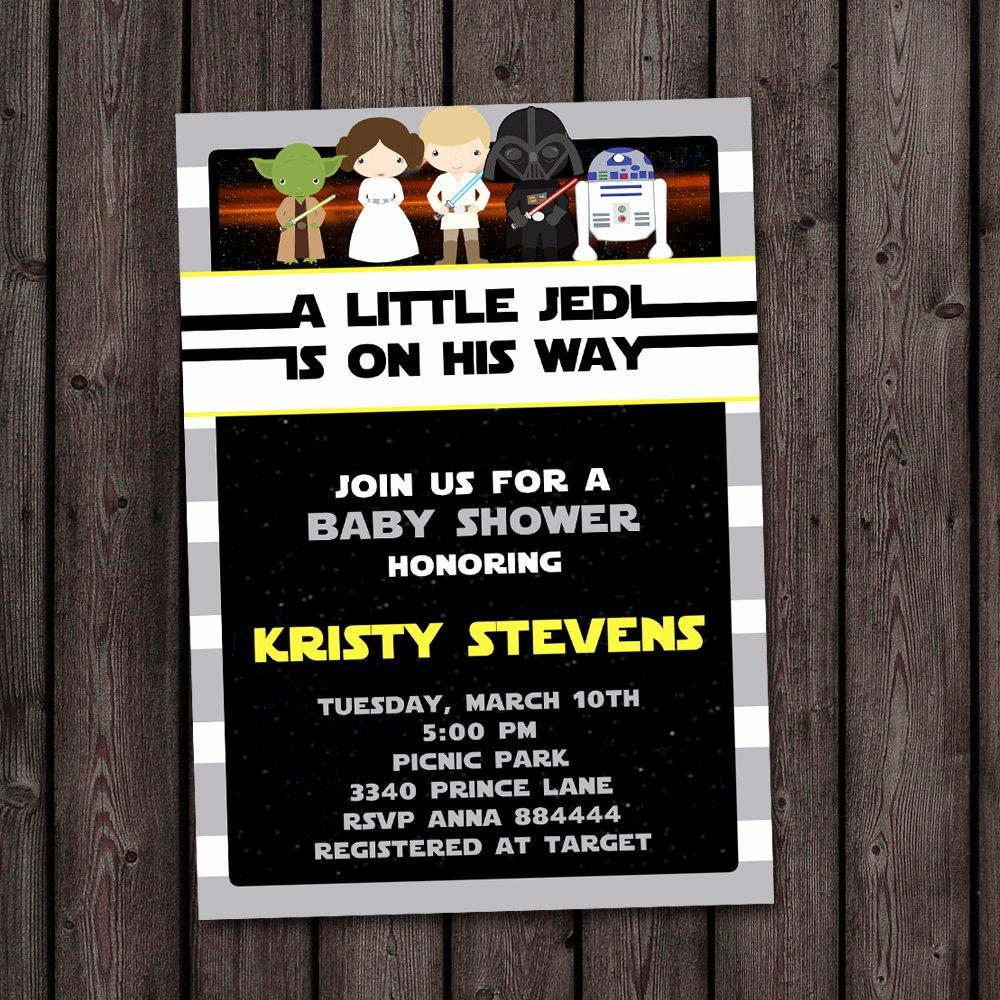 Star Wars Invitations Wording Best Of Star Wars Baby Shower Invitation Starwars Invitation Star