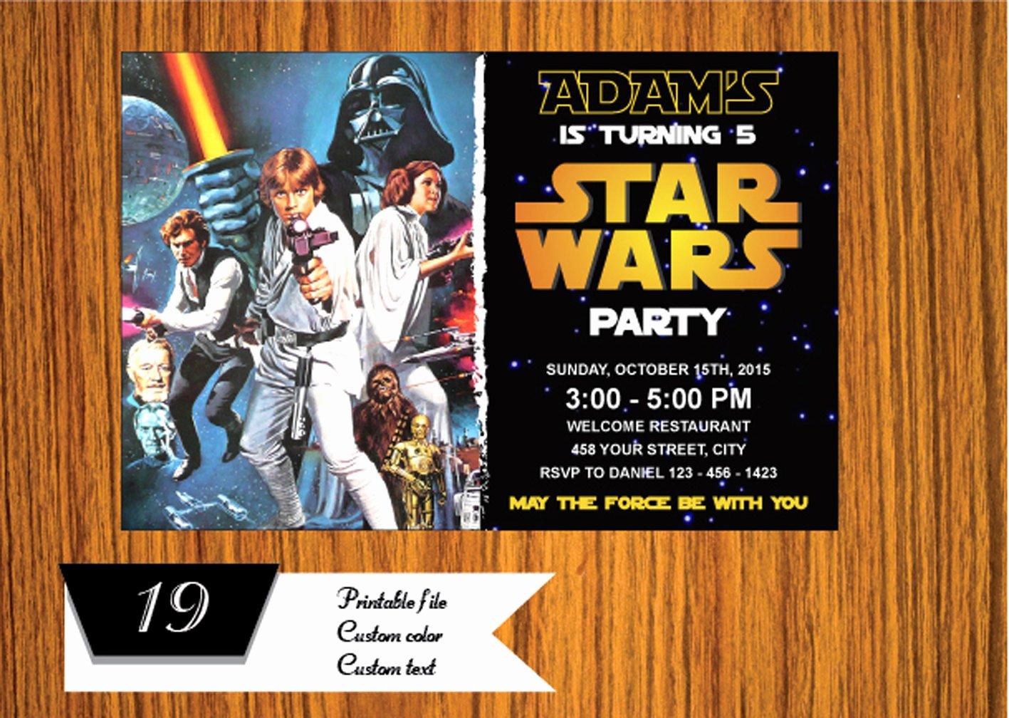 Star Wars Invitations Wording Fresh Star Wars Star Wars Invitation Star Wars Birthday