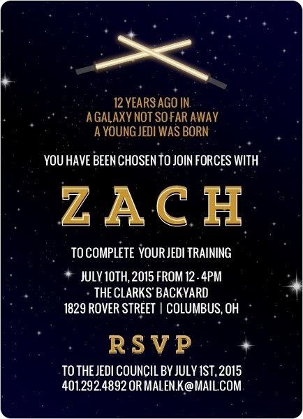 Star Wars Invitations Wording New 32 Amazing Star Wars Birthday Invitations