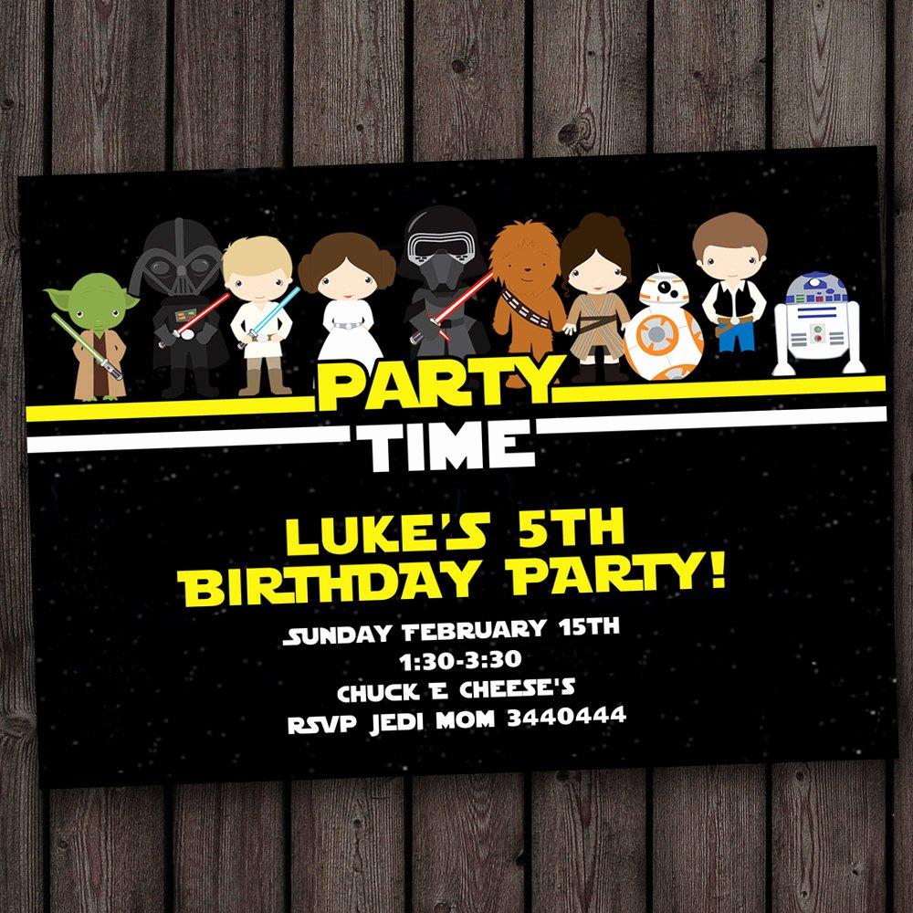 Star Wars Invitations Wording Unique Star Wars Invitation Star Wars Birthday Invitations Fast