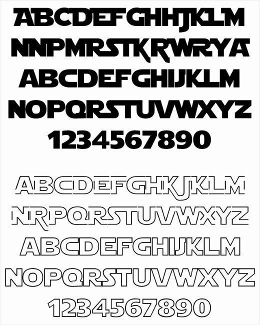 Star Wars Letter Stencils Awesome Free Star Wars Fonts Collection