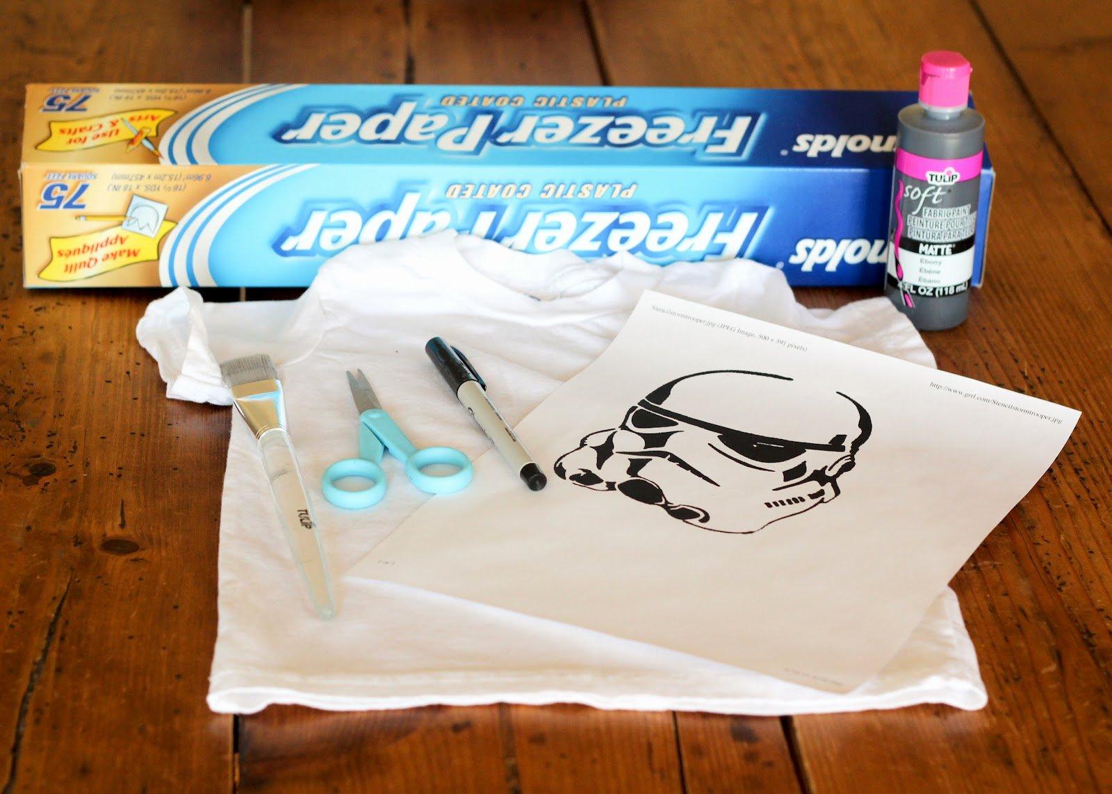 Star Wars Letter Stencils Fresh Finley and Oliver Diy Star Wars Freezer Paper Stencil T Shirt