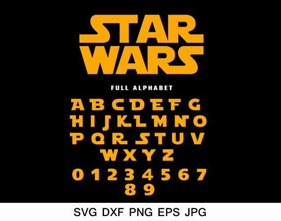Star Wars Letter Stencils Fresh Star Wars Font Svg Star Wars Alphabet Svg Silhouette Font