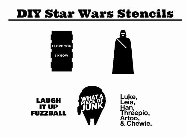 Star Wars Letter Stencils Luxury Diy T Shirt Stencils Tutorial Star Wars Edition