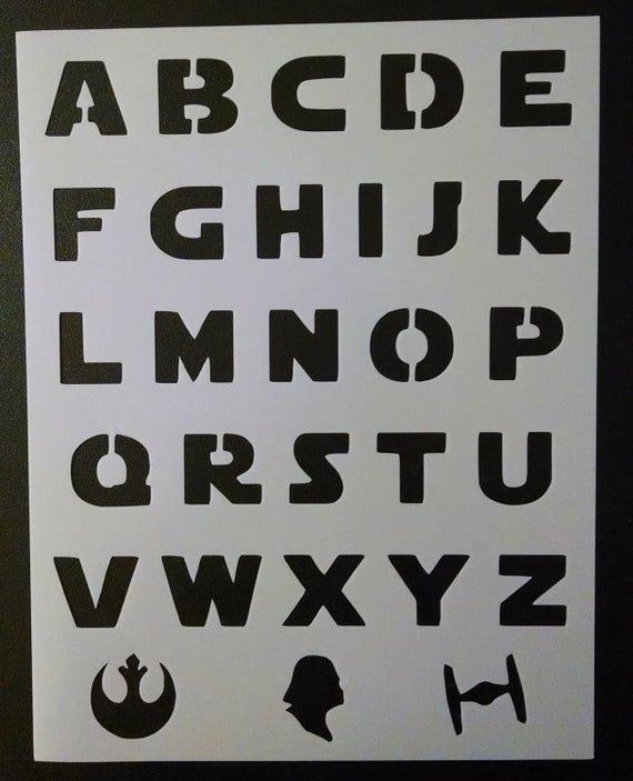Star Wars Letter Stencils New Star Wars Font Alphabet Letters Darth Vader Custom Stencil