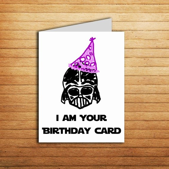 Star Wars Printable Birthday Cards Beautiful Star Wars Birthday Card Printable Darth Vader Birthday Card