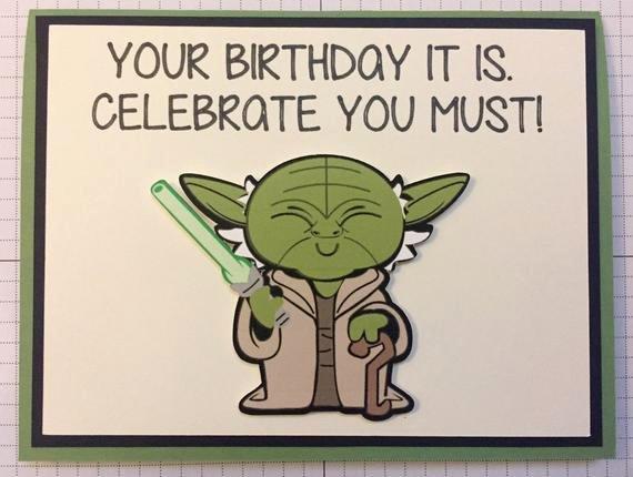 Star Wars Printable Birthday Cards Best Of Disney Star Wars Yoda Birthday Greeting Card