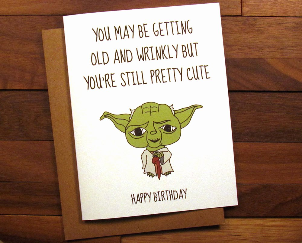 Star Wars Printable Birthday Cards Fresh Funny Birthday Card Star Wars Birthday Card with Recipe