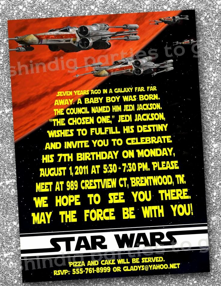 Star Wars Printable Birthday Cards Fresh Star Wars Birthday Invitations Templates Free