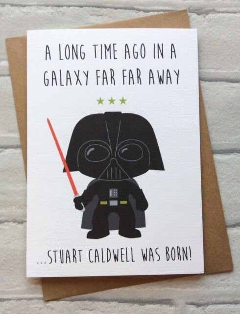 Star Wars Printable Birthday Cards Inspirational Personalised Handmade Star Wars Birthday Card Darth Vader