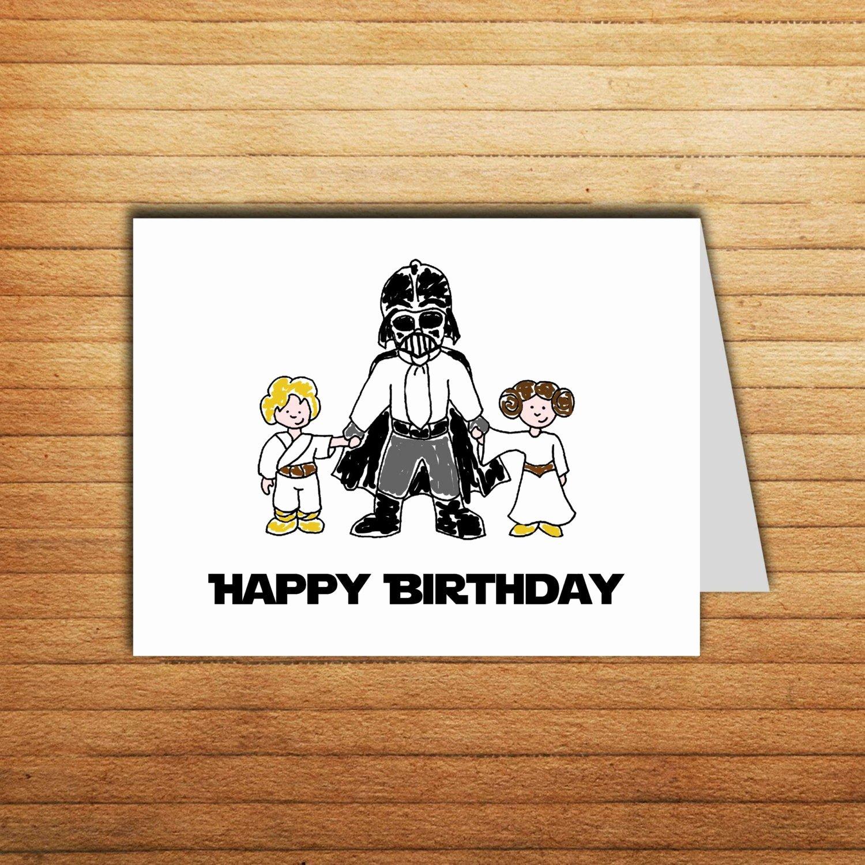 Star Wars Printable Birthday Cards Luxury Printable Star Wars Birthday Card Darth Vader by