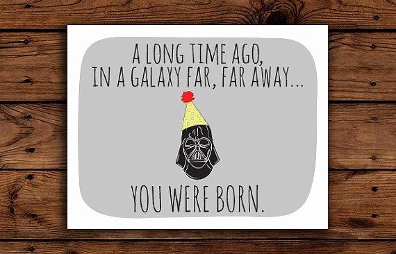Star Wars Printable Birthday Cards Luxury Star Wars Birthday Card Printable Darth by