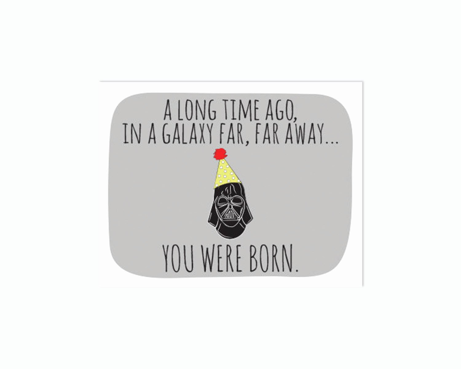 Star Wars Printable Birthday Cards New Unavailable Listing On Etsy