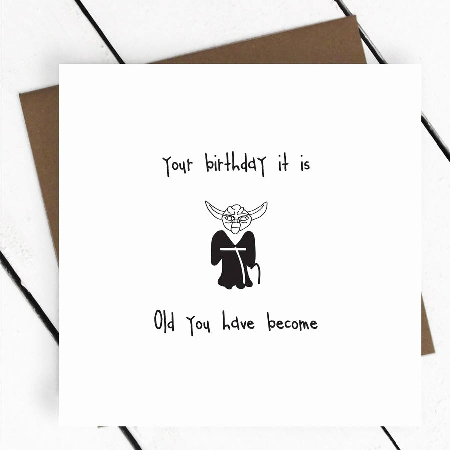 Star Wars Printable Birthday Cards Unique Your Birthday It is Star Wars Yoda Greeting Card by A