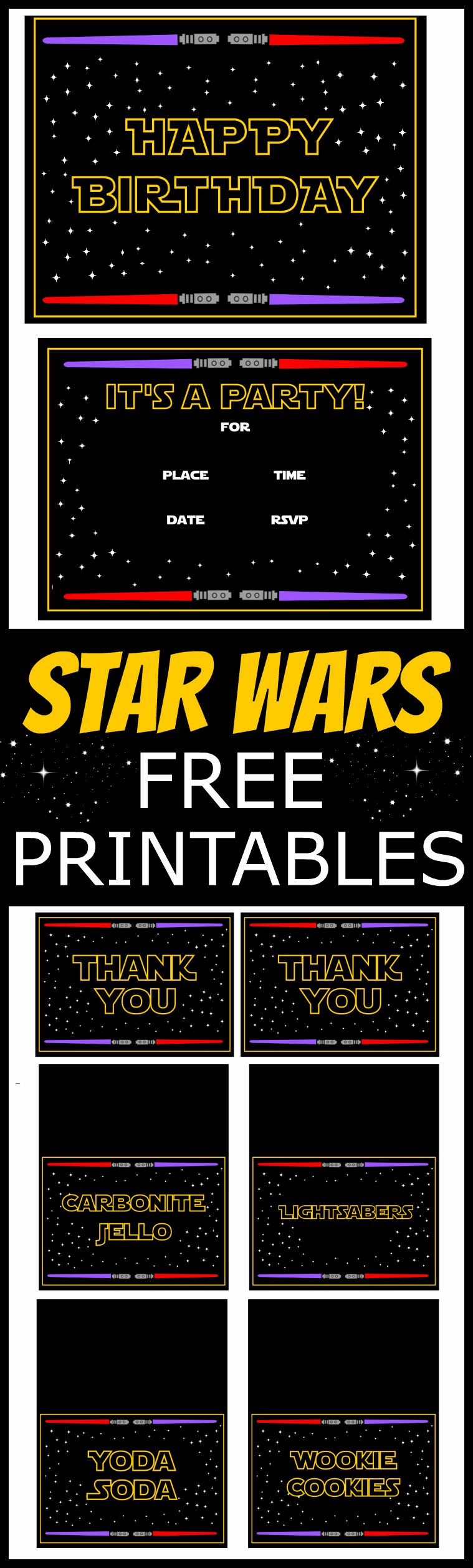 Star Wars Printable Birthday Invitations Elegant Star Wars Free Printables