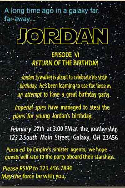 Star Wars Printable Birthday Invitations Inspirational Star Wars Printable Birthday Invitations Amature Housewives