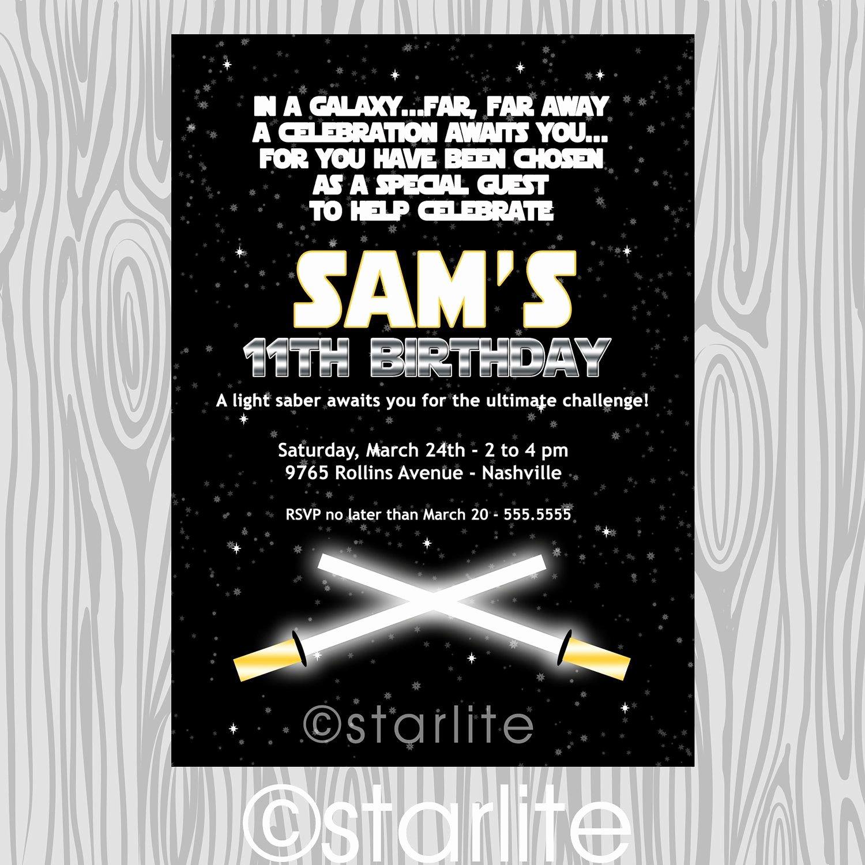 Star Wars Printable Birthday Invitations Lovely Star Wars Inspired Star Wars theme Birthday Party