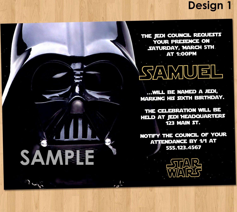 Star Wars Printable Birthday Invitations Luxury Free Star Wars Birthday Invitations – Free Printable