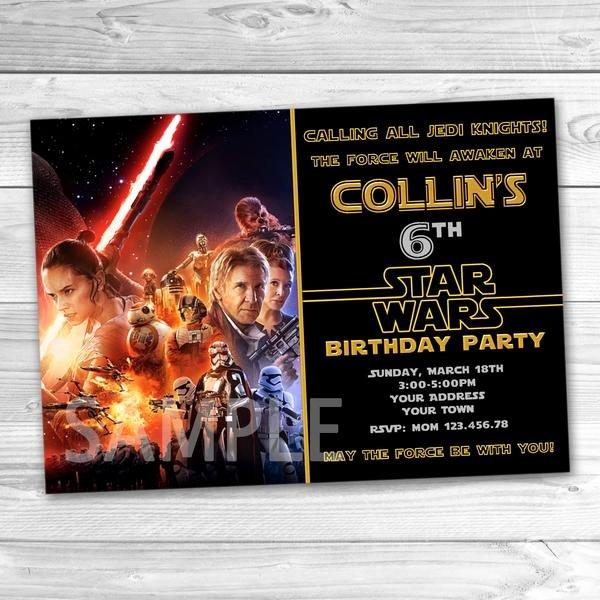 Star Wars Printable Birthday Invitations New Star Wars Invitation Bb8 Party Invitation Star Wars