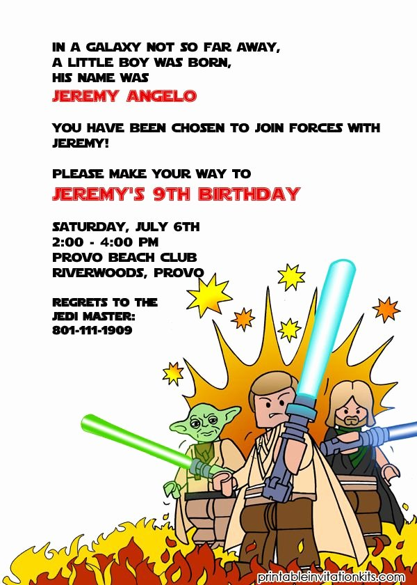 Star Wars Printable Birthday Invitations Unique 1000 Images About Free Printable Birthday Party