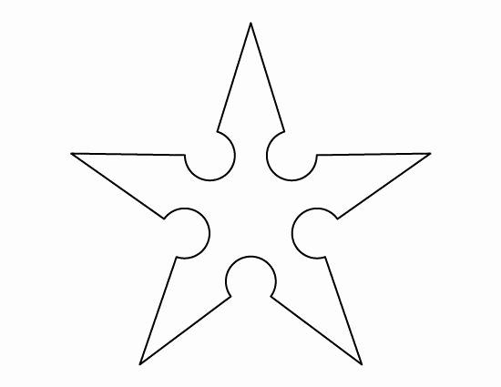 Stars Cut Out Templates Best Of Ninja Star Pattern Use the Printable Outline for Crafts
