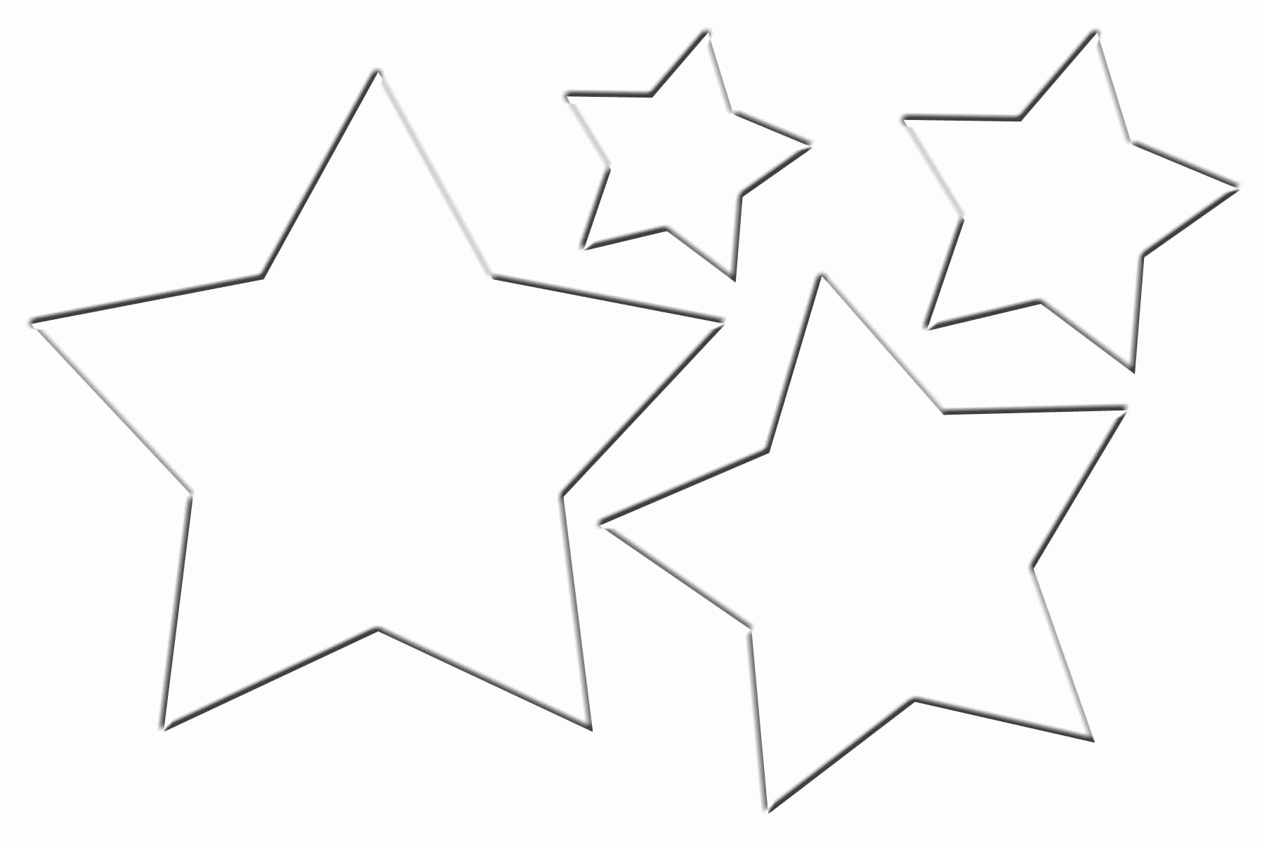 Stars Cut Out Templates Elegant Stars Clipart Template Pencil and In Color Stars Clipart
