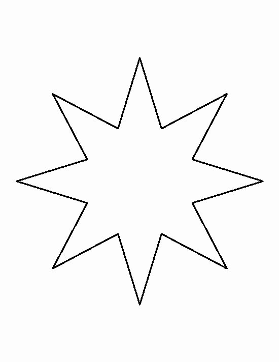 Stars Cut Out Templates Fresh Eight Point Star Pattern Use the Printable Outline for