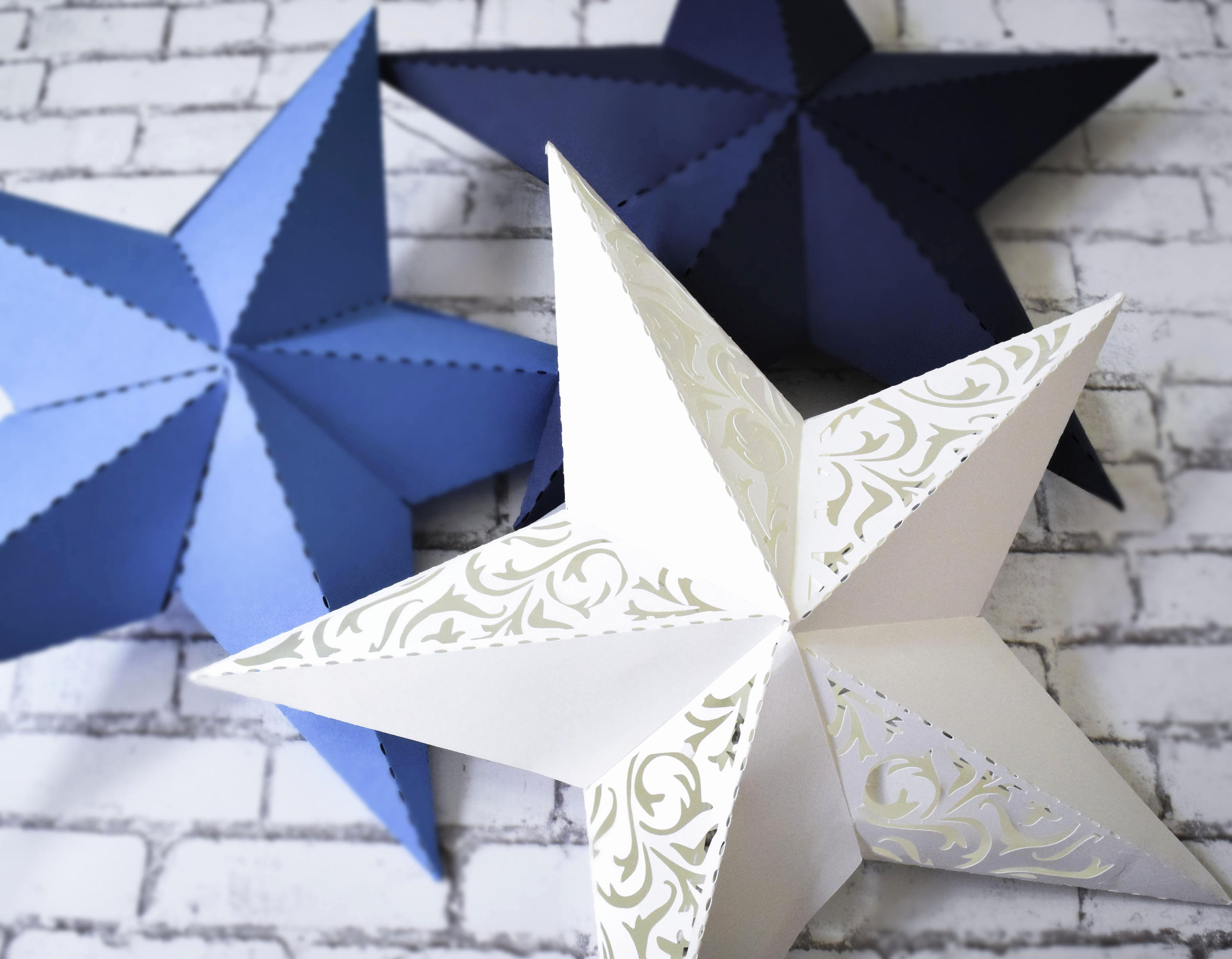 Stars Cut Out Templates Inspirational 3d Paper Star Printable Template Svg Star Cut Files Dxf