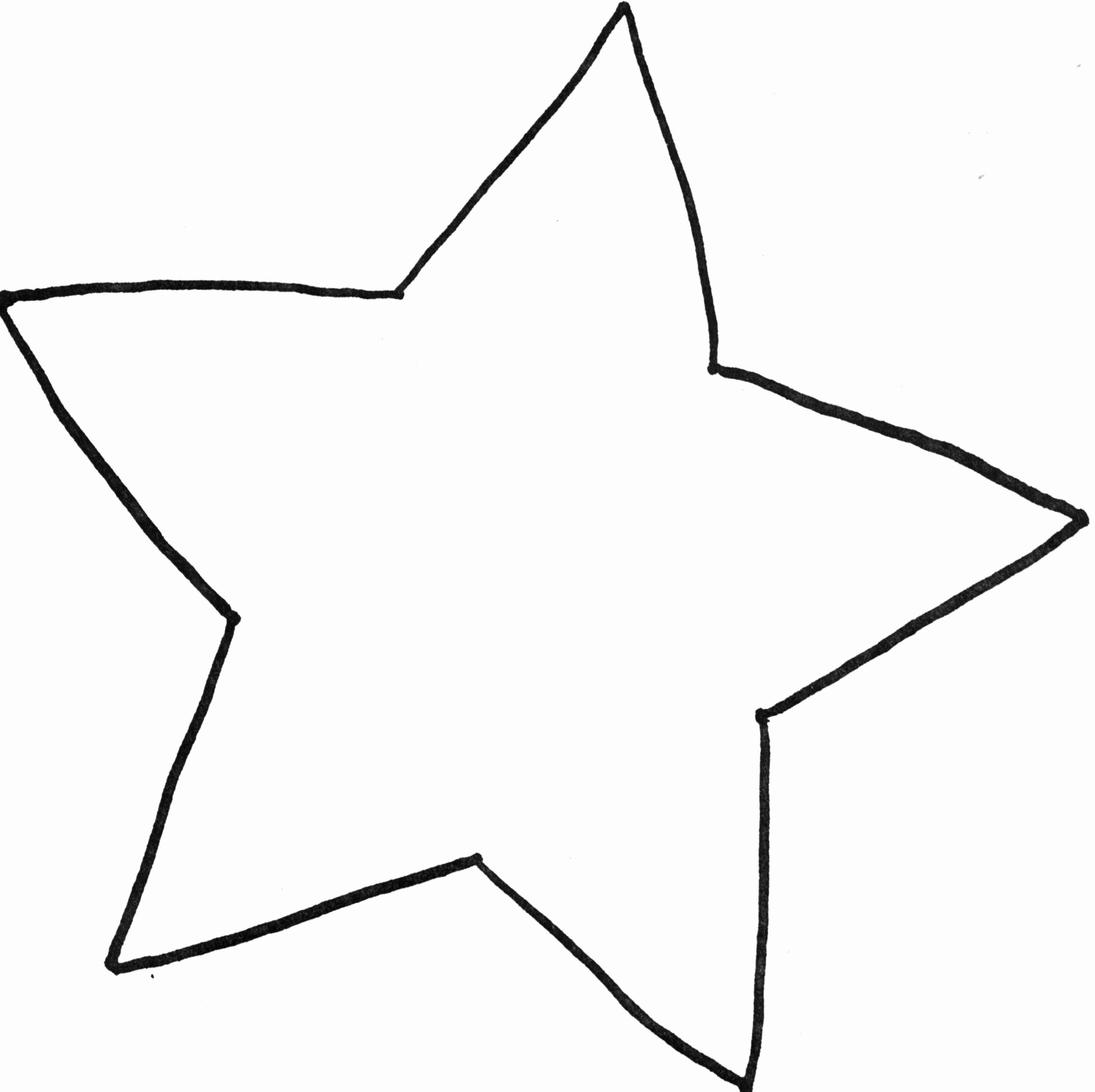 Stars Cut Out Templates Inspirational Star Template