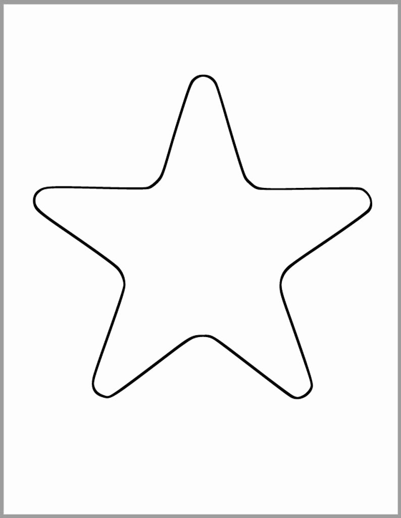 Stars Cut Out Templates Lovely Printable Star Template 7 Inch Starfish Cutout Baby Shower