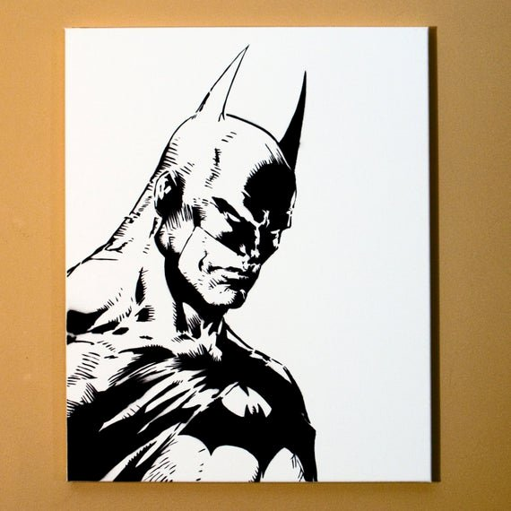 Stencil with Spray Paint Awesome Batman Art Spray Paint From Handmade Stencil Black and