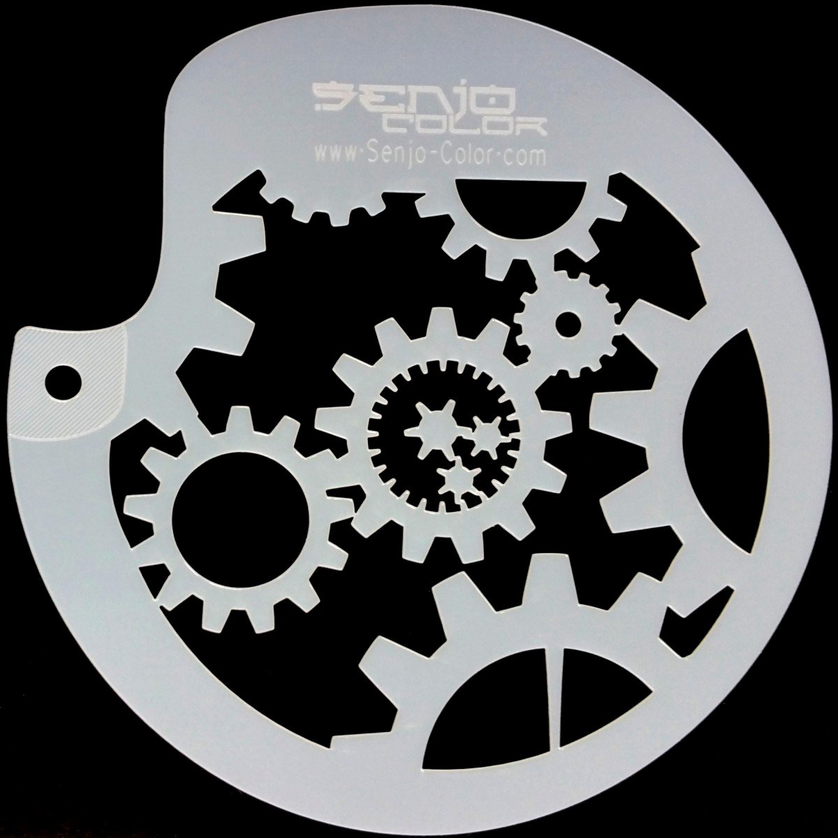 Stenciling with Spray Paint Beautiful Bodyart Gearwheel Spray Paint Stencil Circular