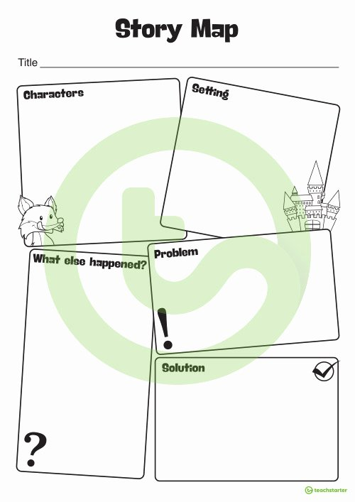 Story Map Template Free Awesome Story Map Template Teaching Resource – Teach Starter