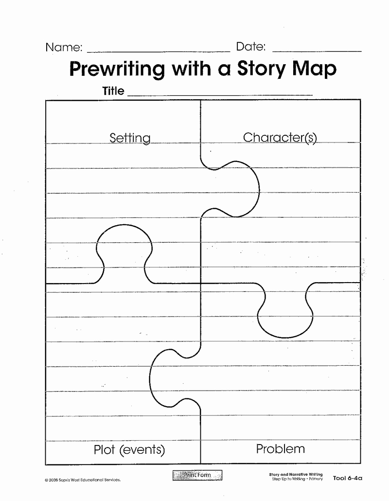 Story Map Template Free Fresh Story Map Puzzle Template