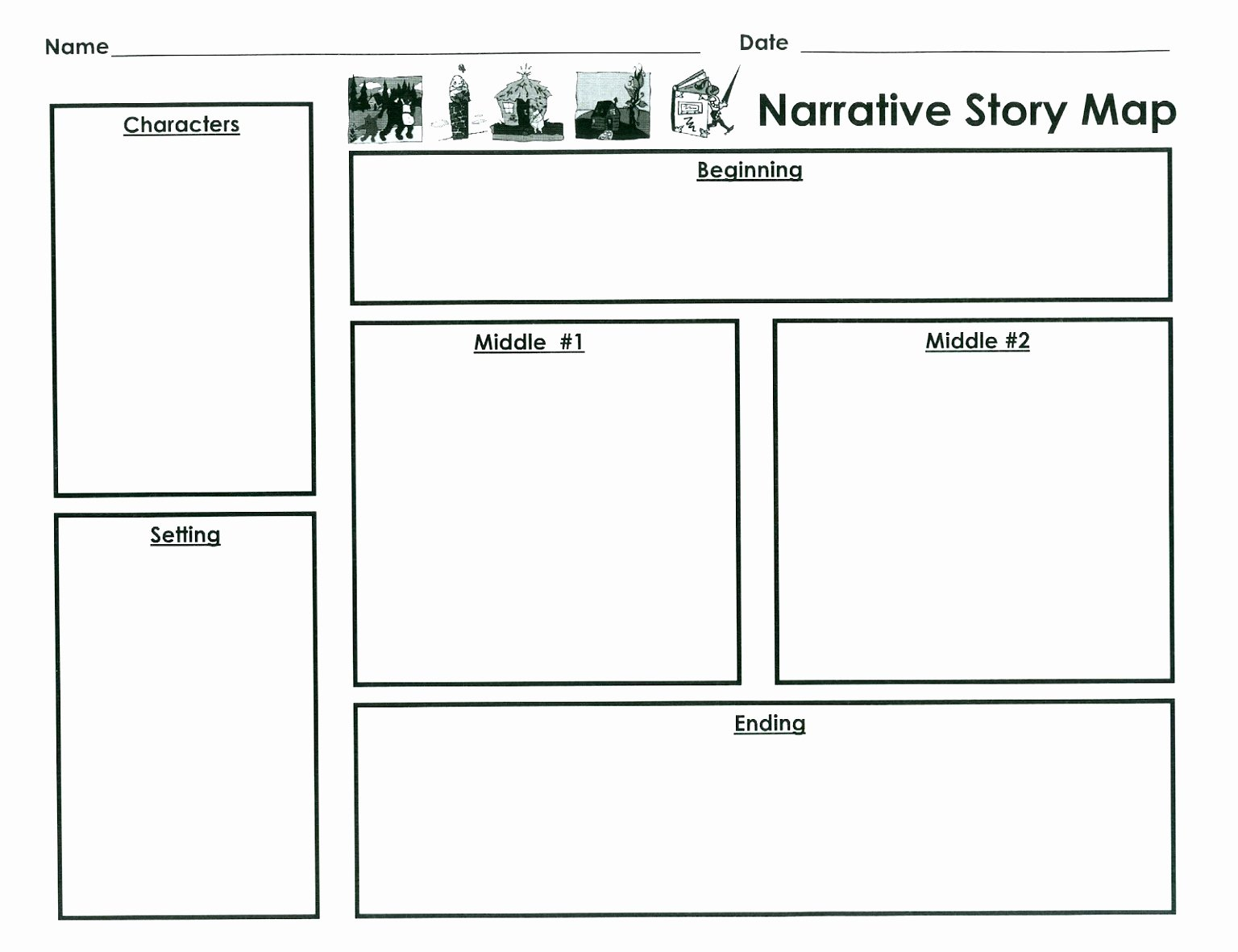 Story Map Template Free Luxury Free Printable Story Map Template – Ezzy
