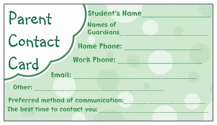 Student Information Card Template Awesome 17 Best Images About Preschool forms On Pinterest