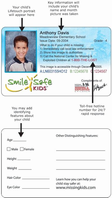Student Information Card Template Elegant Kids Id Card Template Id…