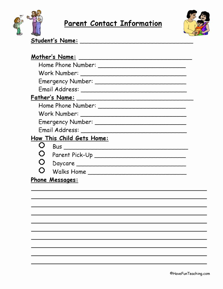 Student Information Sheet for Teachers Fresh Student Information Sheets