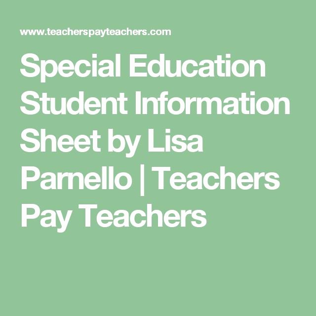Student Information Sheet for Teachers Inspirational Best 25 Student Information Ideas On Pinterest