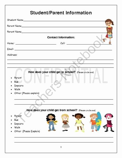 Student Information Sheet for Teachers Inspirational Student Information Sheet From Karingram From Karingram On