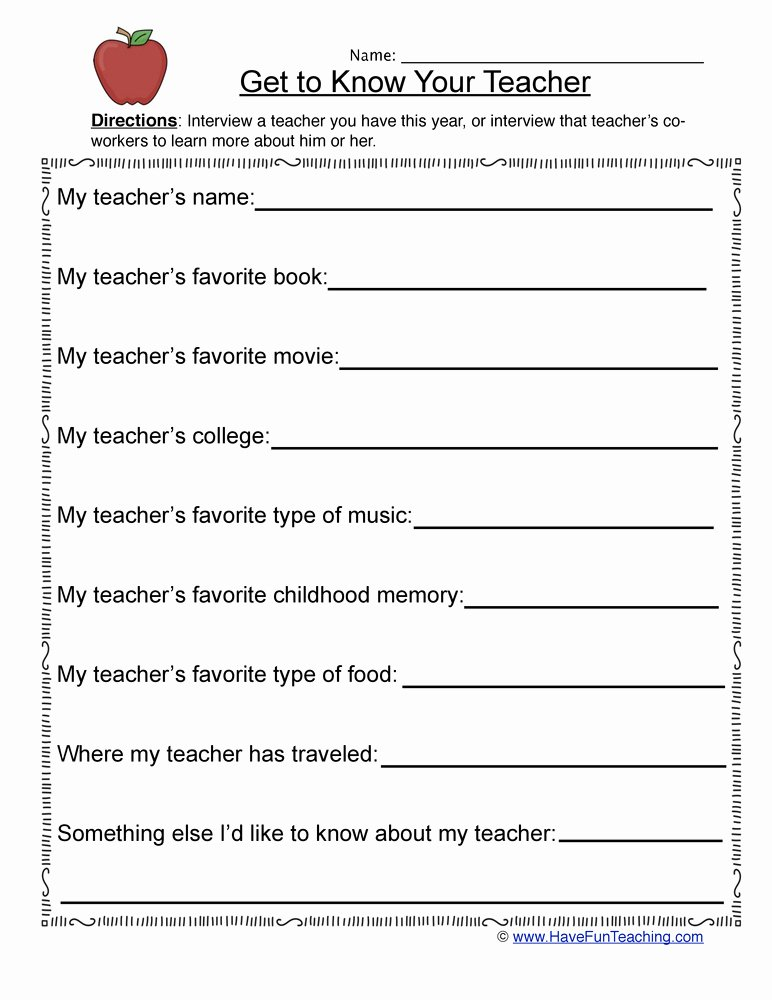 Student Information Sheet for Teachers Inspirational Student Information Sheets