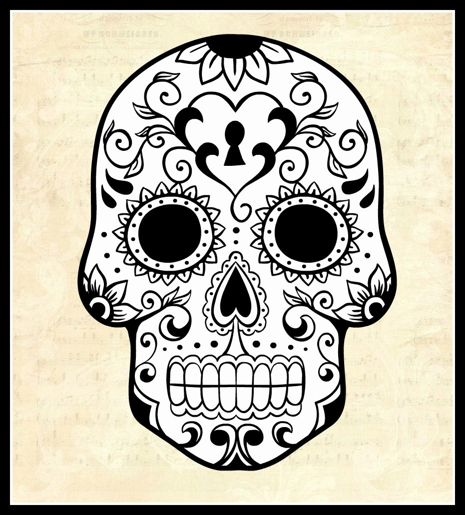 Sugar Skull Template Printable Awesome Kat S Almost Purrfect World El Dias Do Los Muertos the