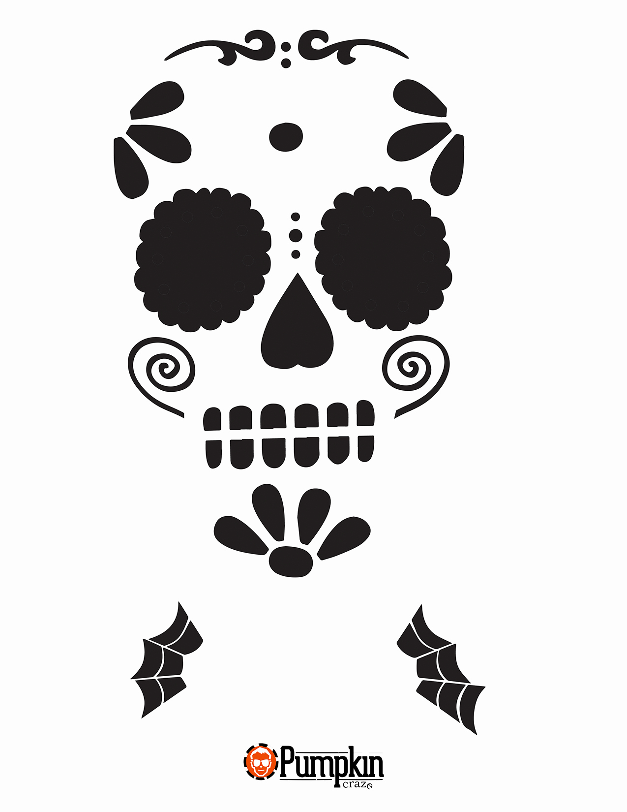 Sugar Skull Template Printable Beautiful Looking for Free Pumpkin Patterns You Can Find Easy Free