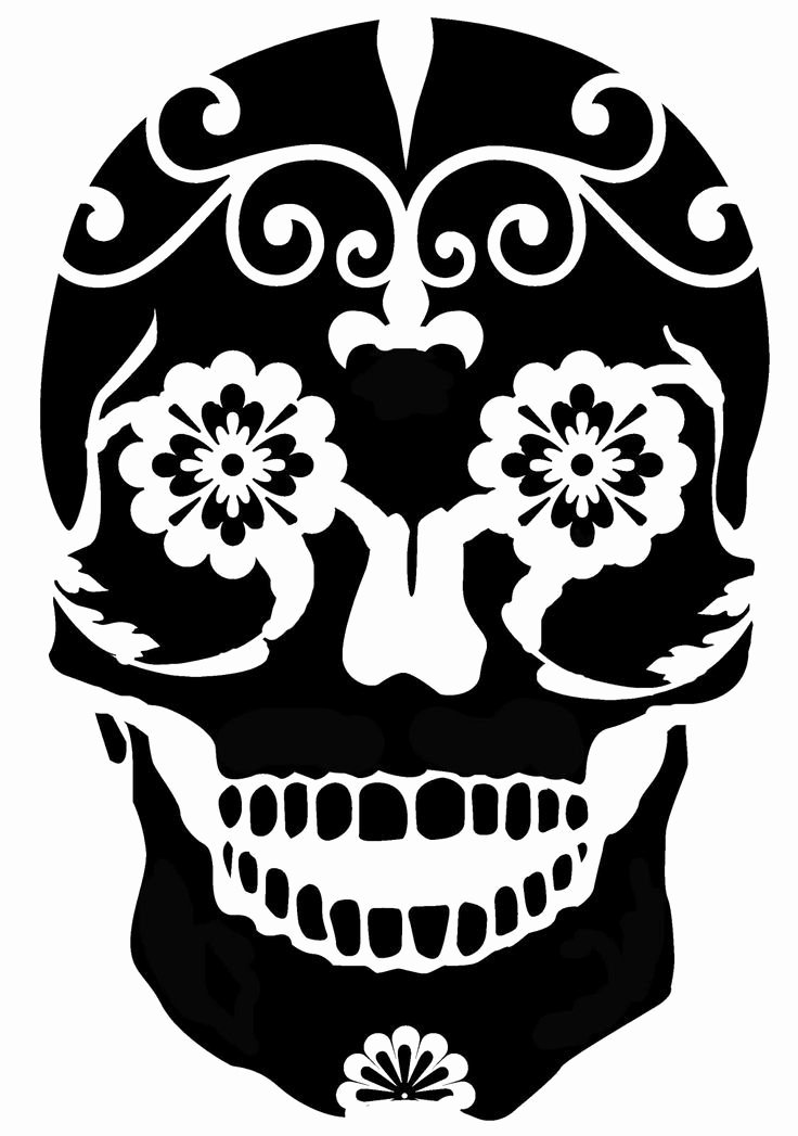 Sugar Skull Template Printable Beautiful Printable Sugar Skull Stencils Easy