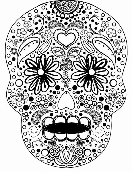 Sugar Skull Template Printable Beautiful Tattoos Book 2510 Free Printable Tattoo Stencils Sugar