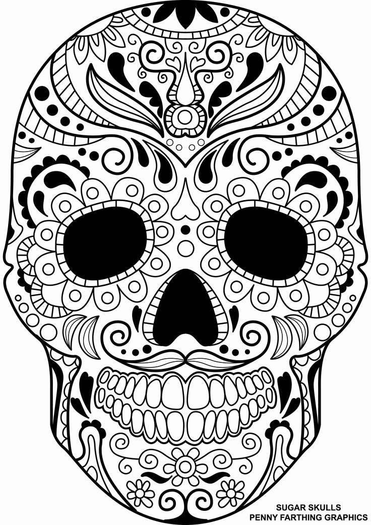 Sugar Skull Template Printable Best Of 17 Best Ideas About Sugar Skull Stencil On Pinterest