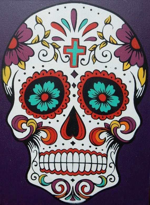 Sugar Skull Template Printable Fresh Dia De Los Muertos Day Of the Dead Spray Painted On by