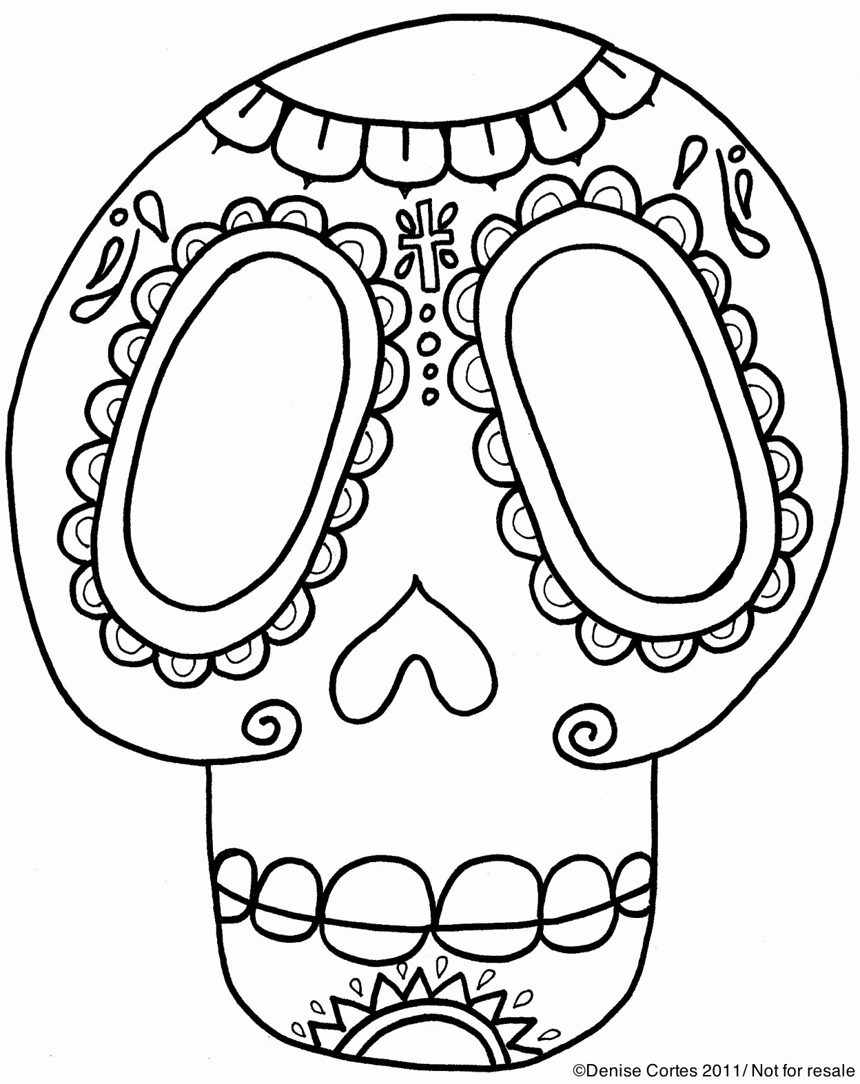 Sugar Skull Template Printable Fresh Free Da De Los Muertos Printable