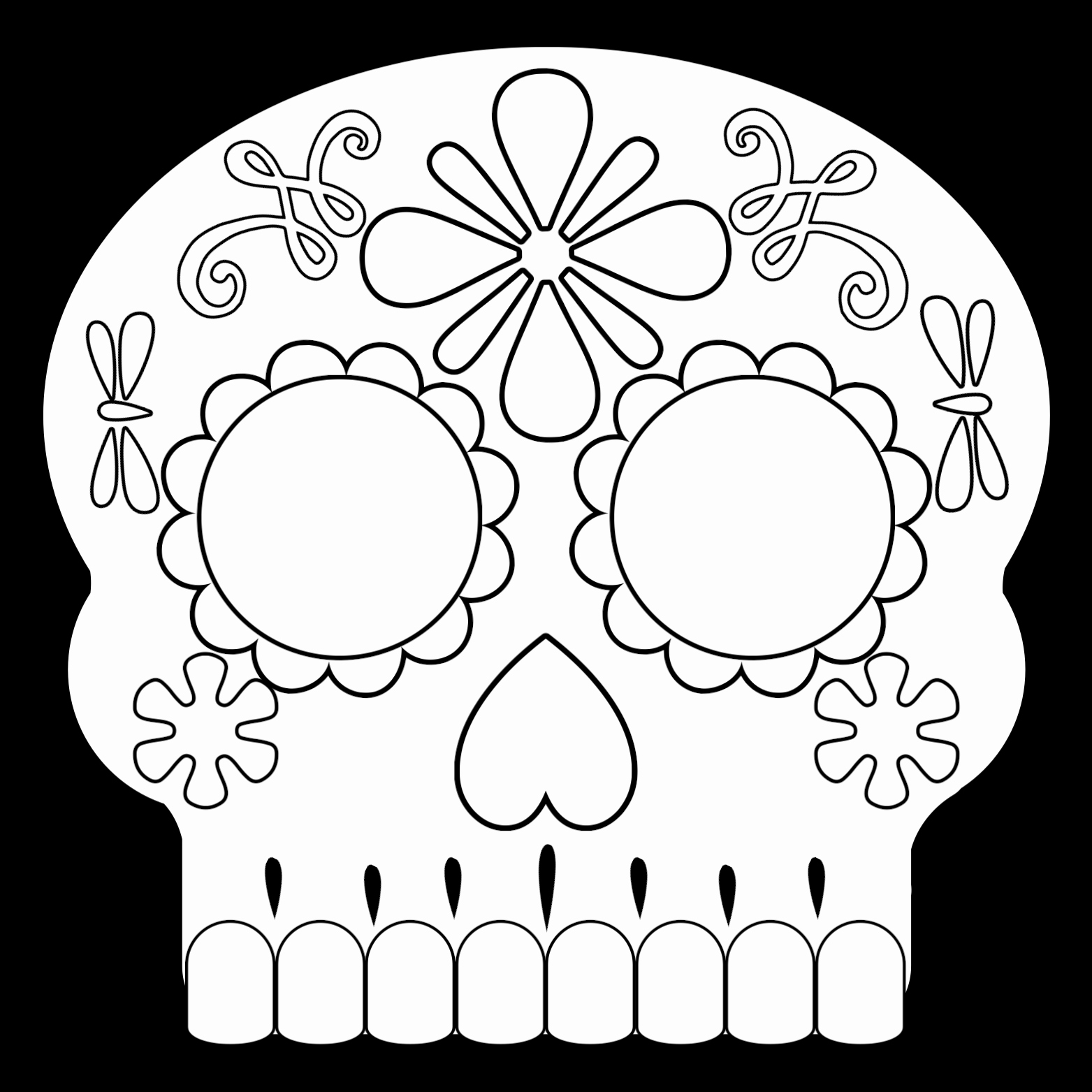 Sugar Skull Template Printable Lovely Day Of the Dead Masks Sugar Skulls Free Printable Paper