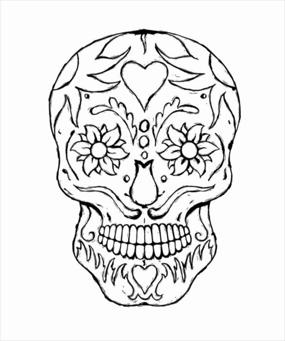 Sugar Skull Template Printable Luxury Skull Drawing Template – 14 Free Pdf Documents Download